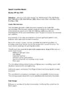 Squash Committee Minutes May 2019